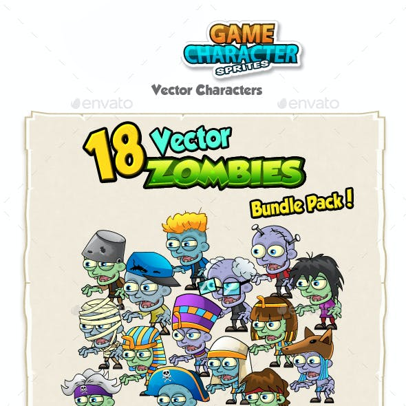 18 Vector Zombies Bundle Pack