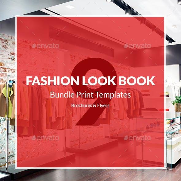 Fashion Look Book – Brochures Bundle Print Templates 9 in 1