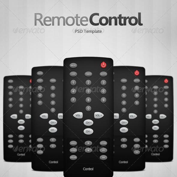 Remote Control PSD Template