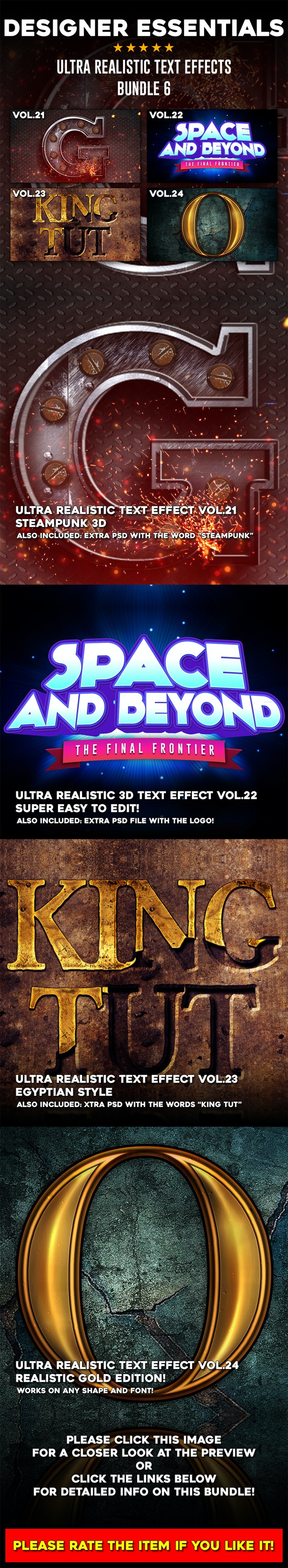 Ultra Realistic Text Effect Bundle Vol.6 - Text Effects Actions