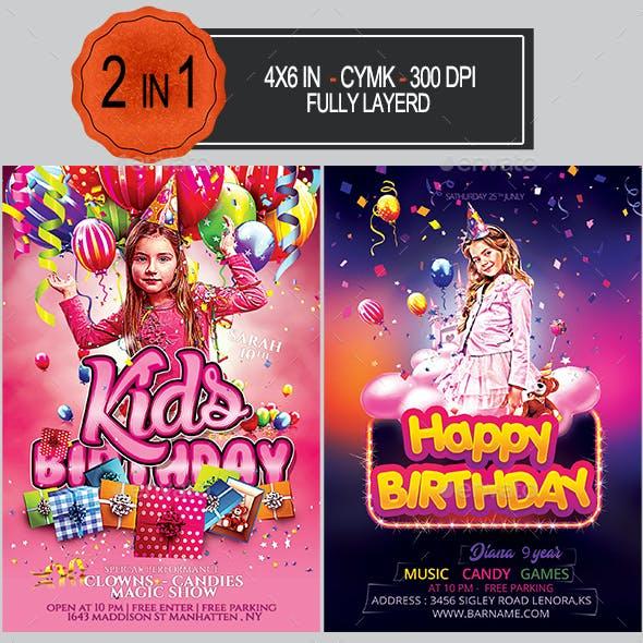 Kids Birthday Flyer Bundle
