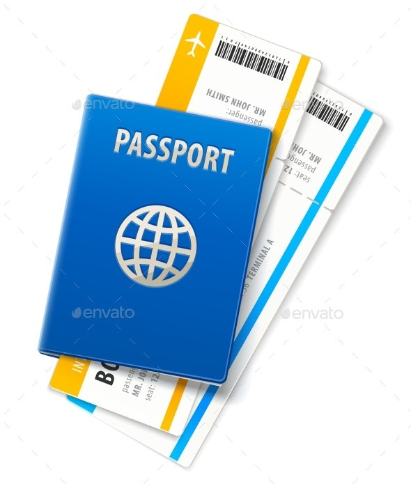 Travel Documents Passport and Ticket - Travel Conceptual