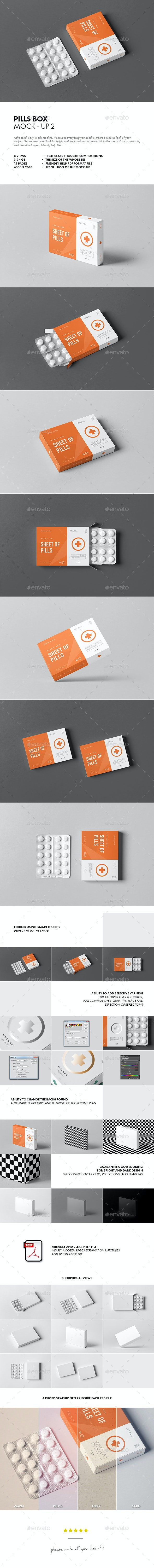 Pills Box Mock-up 2 - Miscellaneous Packaging