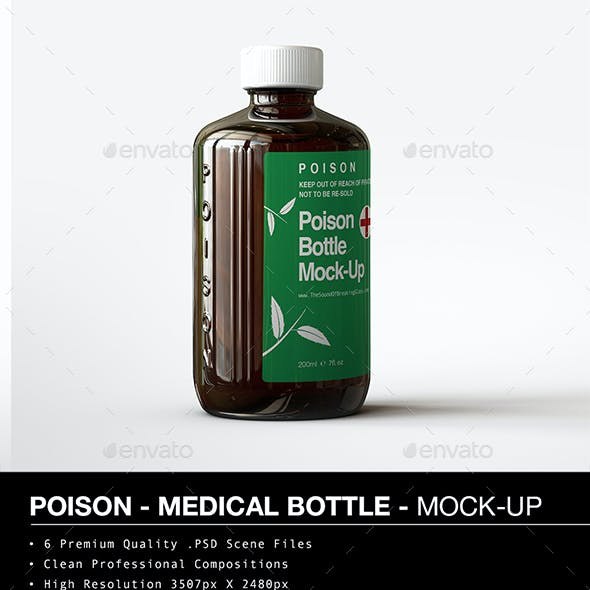 Amber Poison Bottle Mock-Up