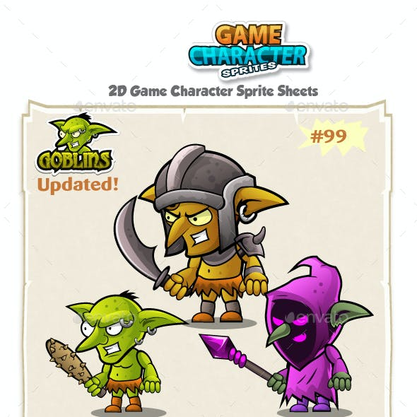 Goblins 2D Game Character Sprites 99