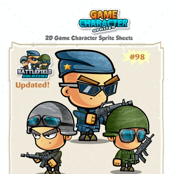 Soldiers 2D Game Character Sprites 98