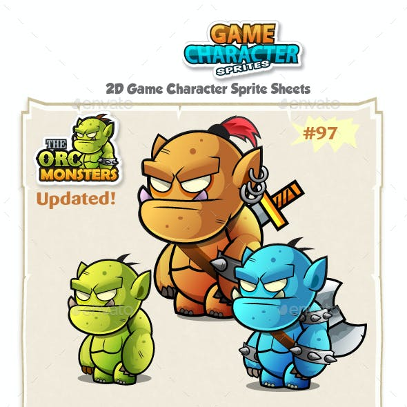 Orc 2D Game Character Sprites 97