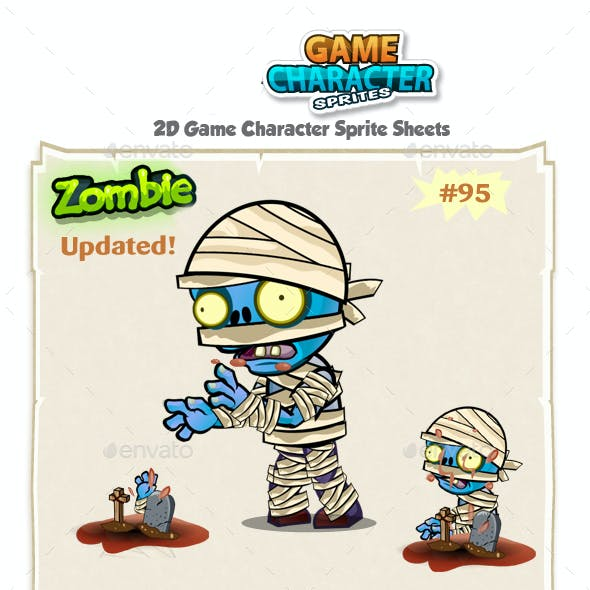 Zombie 2D Game Character Sprites 95