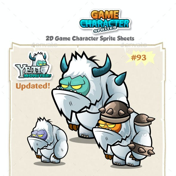 Yeti 2D Game Character Sprites 93