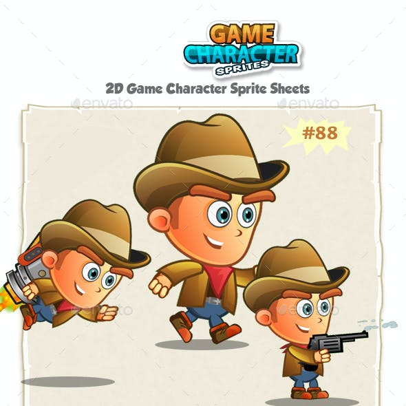 CowBoy 2D Game Character Sprites 88