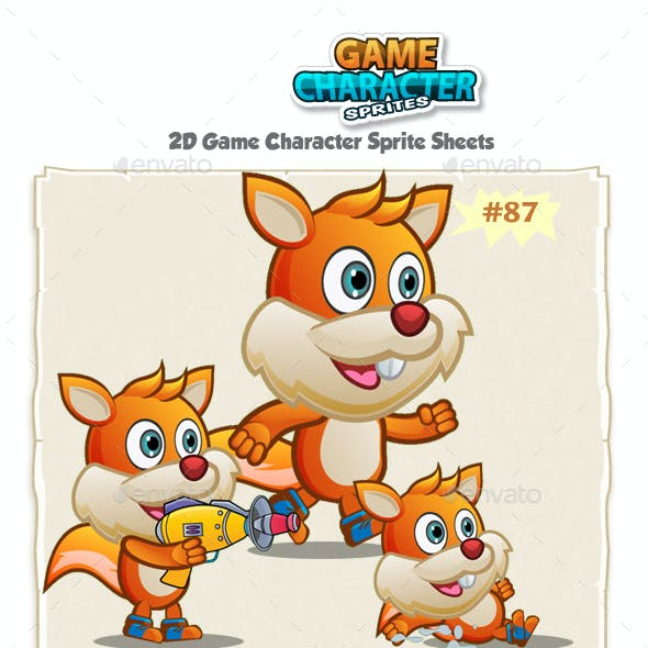 Squirrel 2D Game Character Sprites 87