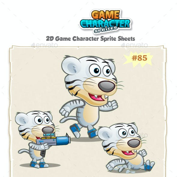 White Tiger 2D Game Character Sprites 85