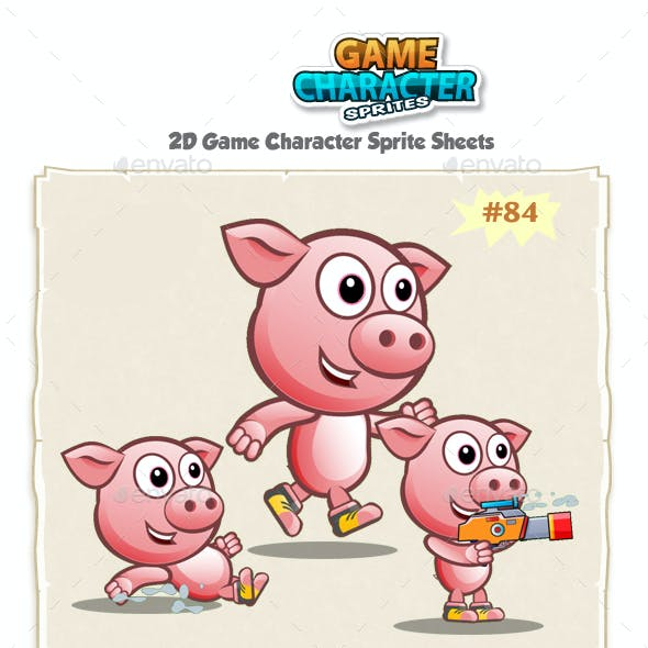 Piggy 2D Game Character Sprites 84