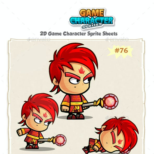 Fire Mage 2D Game Character Sprites 76