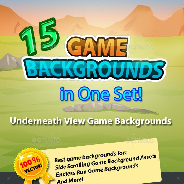 15 Underneath Game Backgrounds in One Set