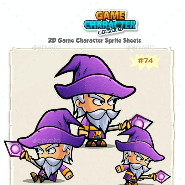 Wizard 2D Character Spritees 74