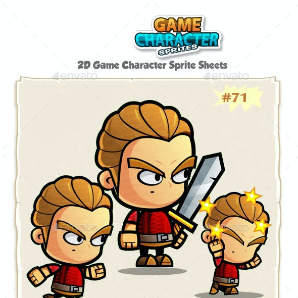 Warrior 2D Game Character Sprites 71