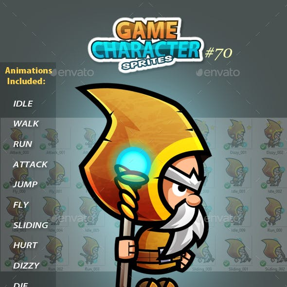 Viking Warrior 2D Game Character Sprites 69
