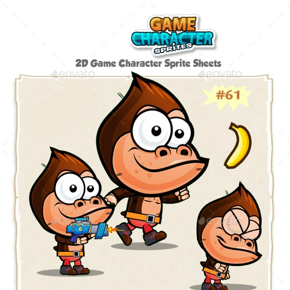 Gorilla 2D Game Character Sprites 61