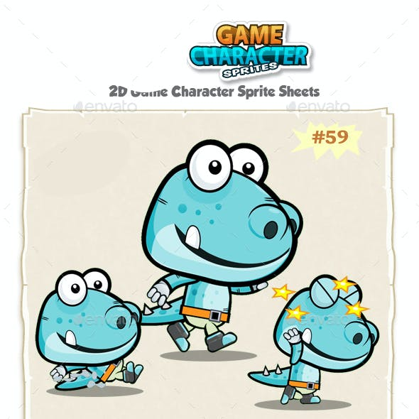 Dinosaur 2D Game Character Sprites 59