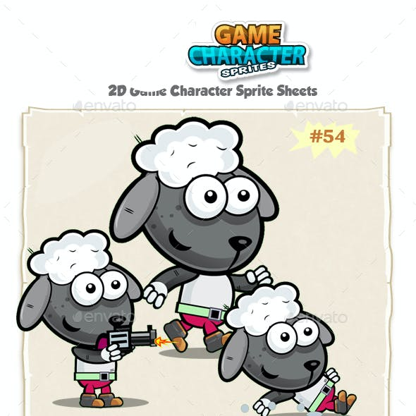 Sheep 2D Game Character Sprites 54