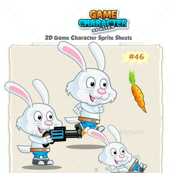 Rabbit 2D Game Character Sprites 46
