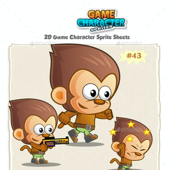 Monkey 2D Game Character Sprites 43
