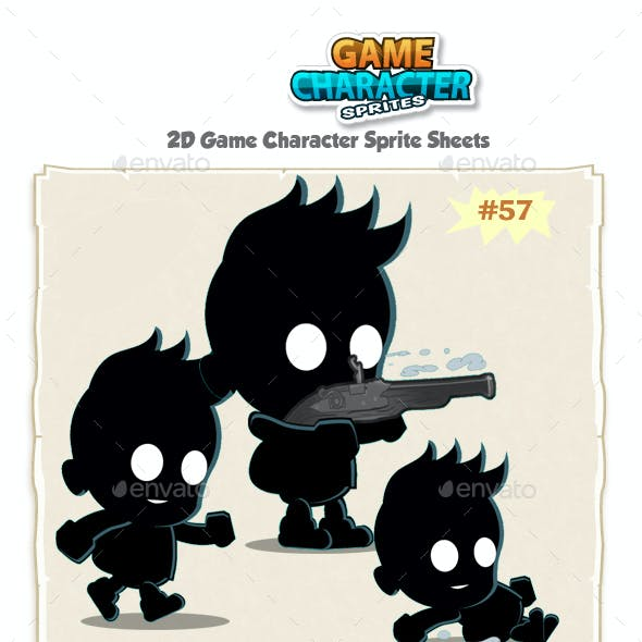 Shadow Kid 2D Game Character Sprites 37