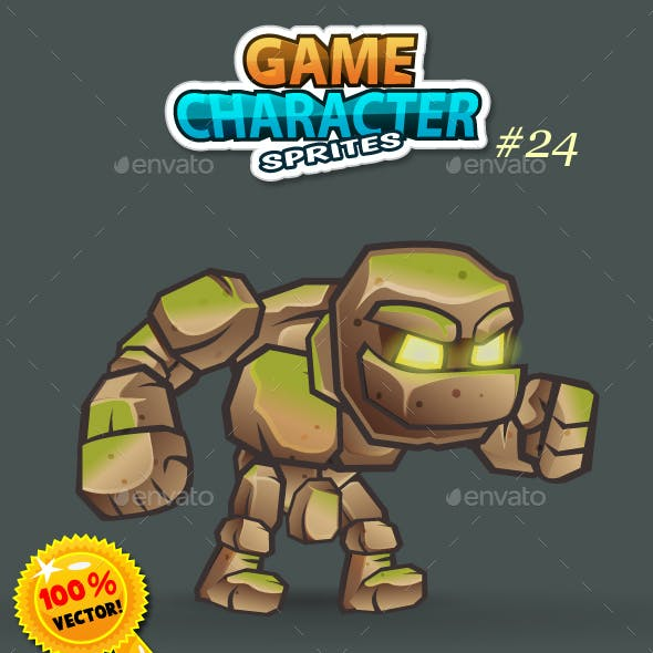 Stone Giant 2D Game Character Sprites 24