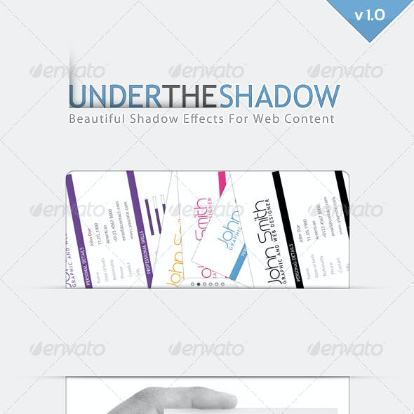 Under the Shadow Generator for Web Content