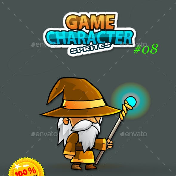 Wizard Game Character Sprites 08