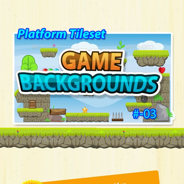 Game Background - Platform Tilesets - 03