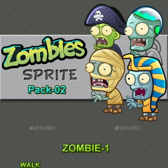 Zombies Sprite Sheets Pack-02