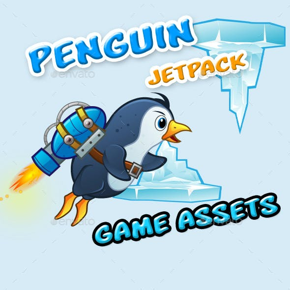Jetpack Penguin Game Assets