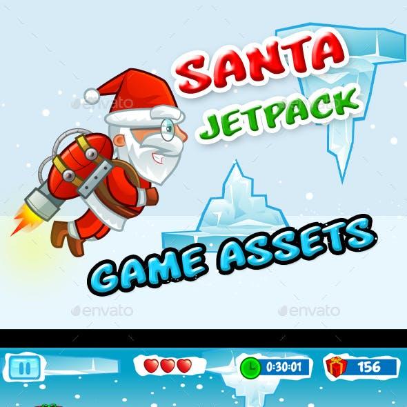 Santa Jetpack Game Assets