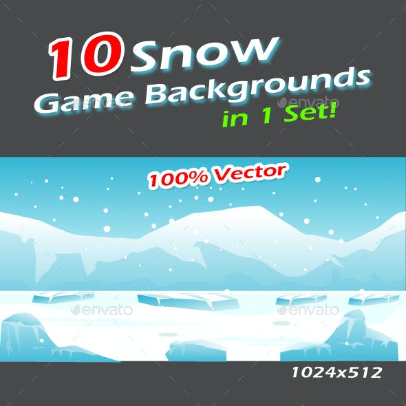 Snow Game Backgrounds Pack