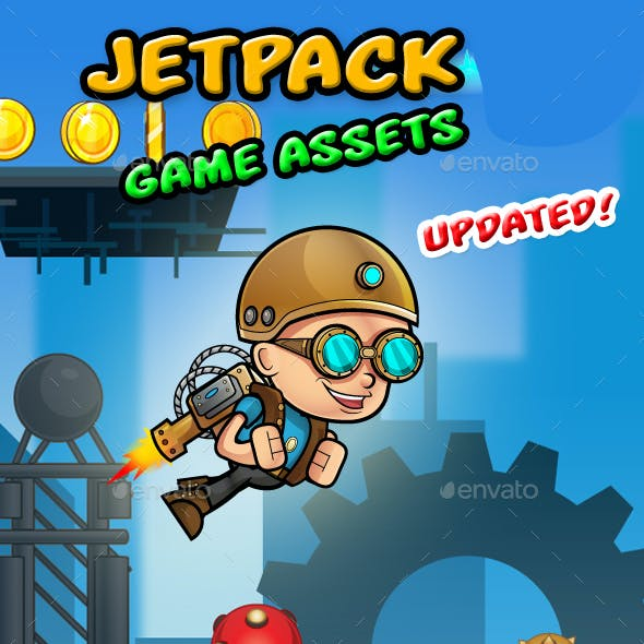 Jetpack Boy Game Assets
