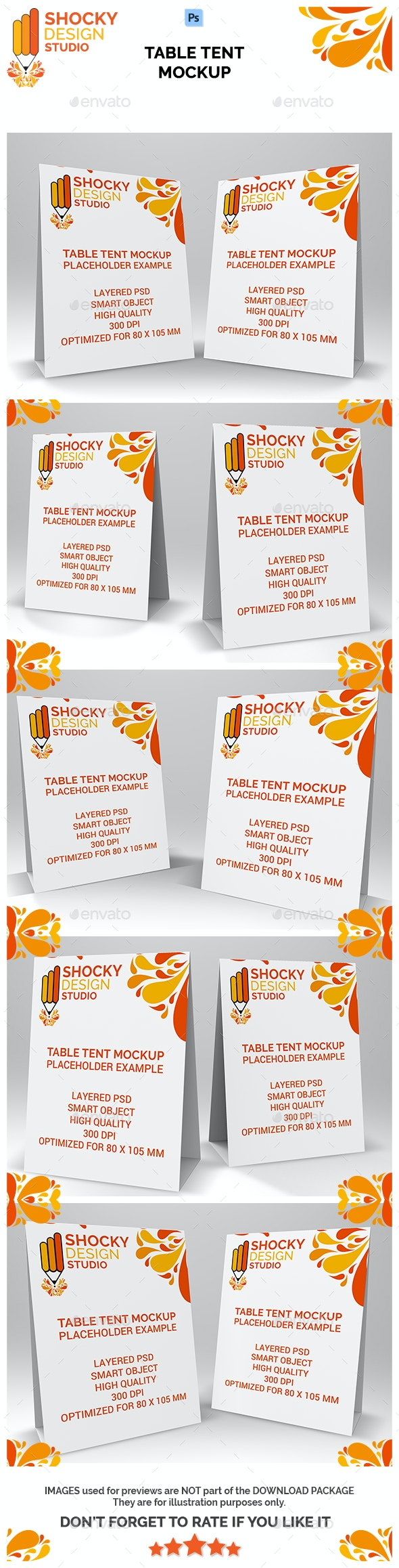 Table Tent Mockup - Product Mock-Ups Graphics