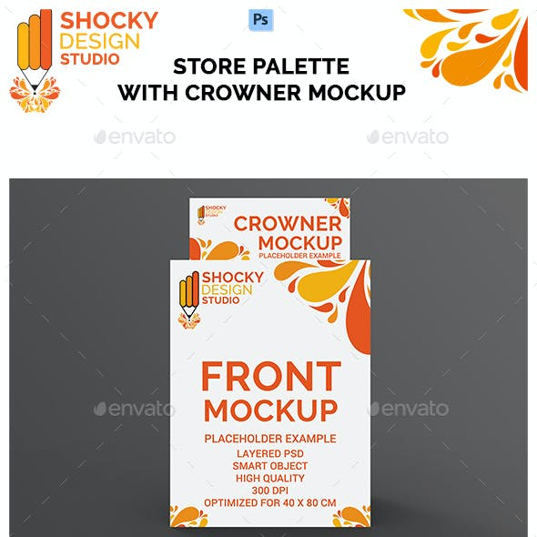 Store Palette with Crowner Mockup