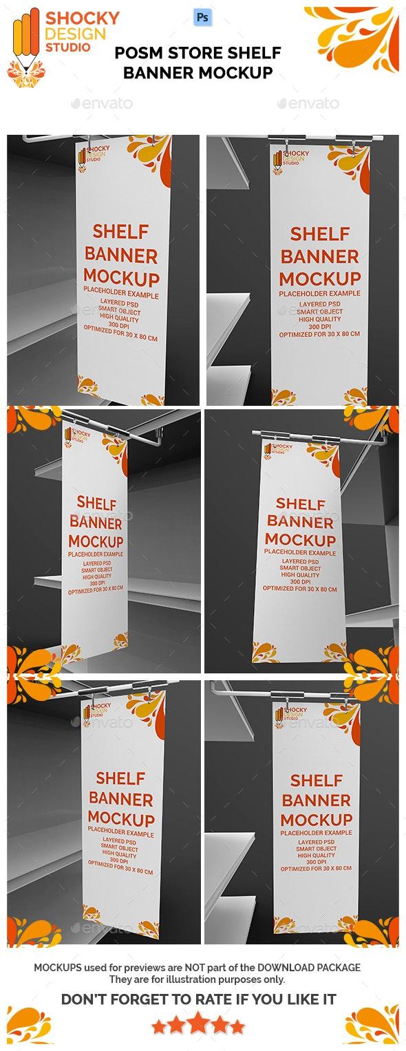 Posm Store Shelf Banner Mockup - Signage Print