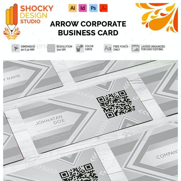 Corporate Business Card Arrow Template