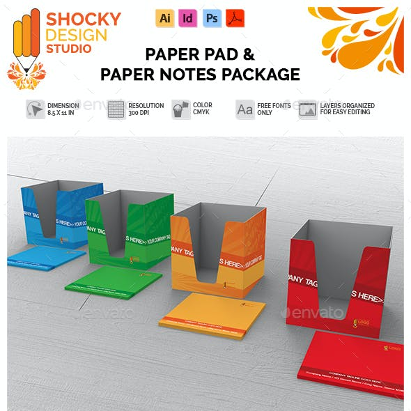 Paper Pad Holder & Paper Cutouts Package