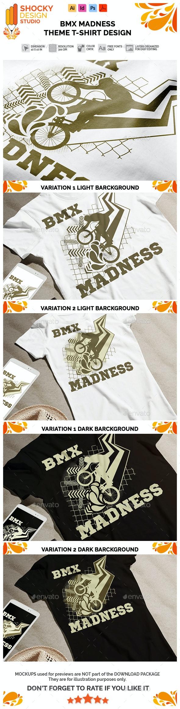 BMX Madness Theme T-shirt Design