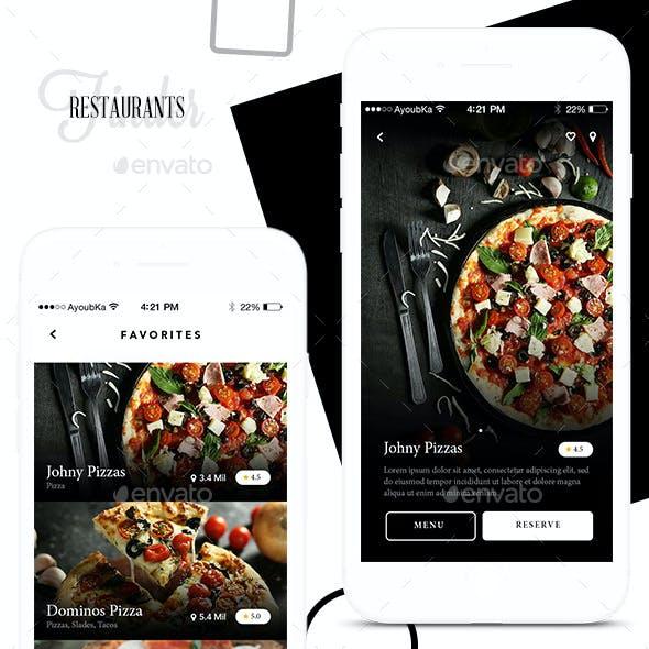 Foodly - Restaurants Mobile app UI Kit Design