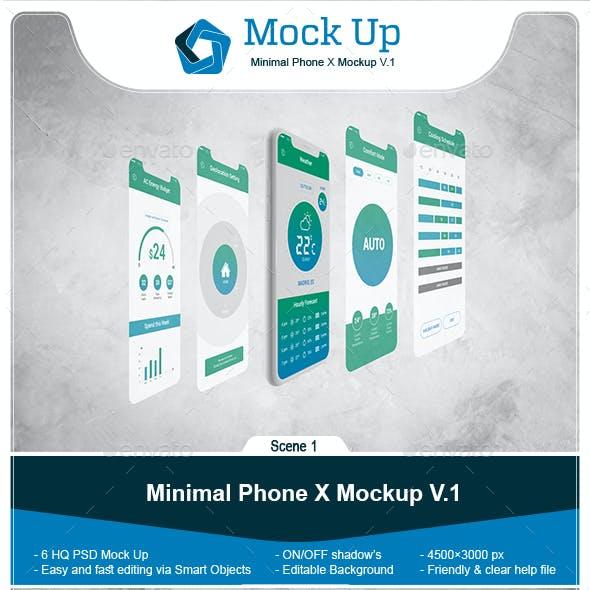 Minimal Phone X Mockup V.1