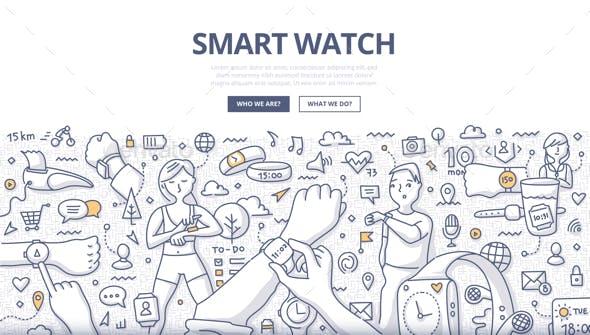 Smart Watch Doodle Concept