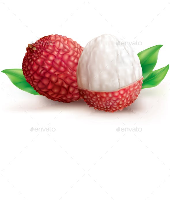 Two Lychee Fruits