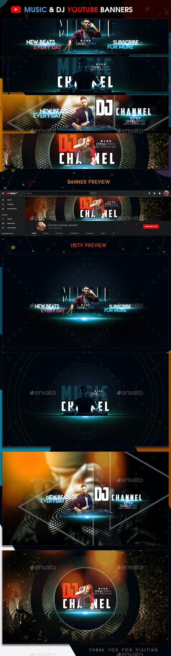 Music & DJ YouTube Banners