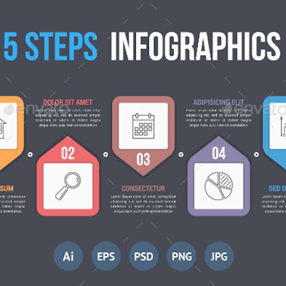 Five Steps Infographics