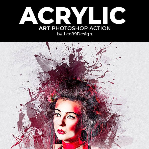 Acrylic Art Photoshop Action